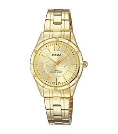 Pulsar® Women's Easy Style Collection Goldtone Watch with Champagne Dial