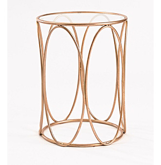 InnerSpace® Oval Side Table with Glass Tabletop