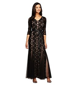 Alex Evenings® Long V-Neck Dress