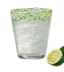 Artland® Mingle Set of 4 Green Double Old Fashioned Glasses