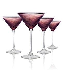 Artland® Misty Set of 4 Purple Martini Glasses
