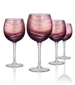 Artland® Misty Set of 4 Purple Goblets