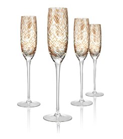 Artland® Misty Set of 4 Champagne Flutes