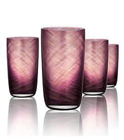 Artland® Misty Set of 4 Purple Highball Glasses