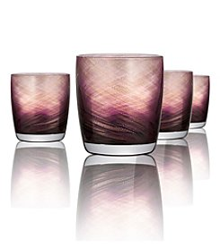 Artland® Misty Set of 4 Purple Double Old Fashioned Glasses