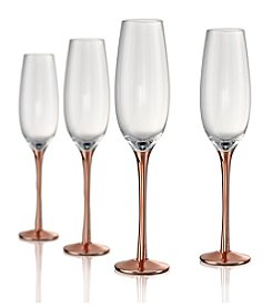 Artland® Coppertino Set of 4 Champagne Flutes
