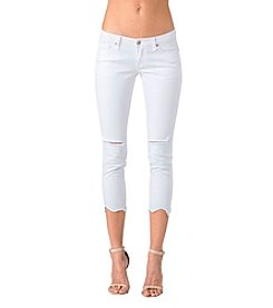 Standards & Practices Tessa White Jeans with Raw Hem