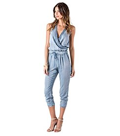 Standards & Practices Ginger Chambray Halter Jumpsuit