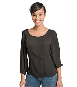 Standards & Practices Pull Over Chiffon Skimmer Top