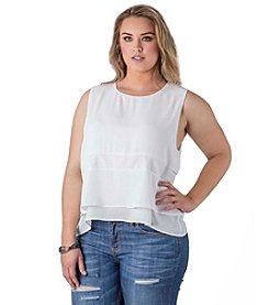 Standards & Practices Plus Size Mandy Chiffon Tank