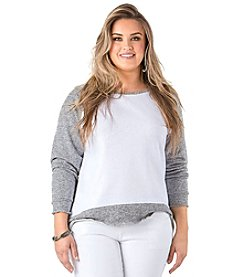Standards & Practices Plus Size Nessa Raglan Sleeve Top