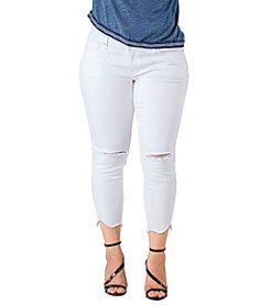 Standards & Practices Plus Size Tessa Raw Hem Jeans