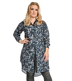 Standards & Practices Plus Size Solenn Camo Printed Tunic