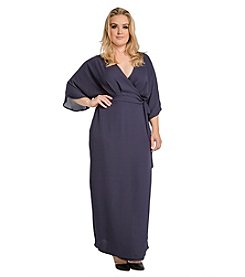 Standards & Practices Plus Size Olivia Wrap Kimono Maxi Dress