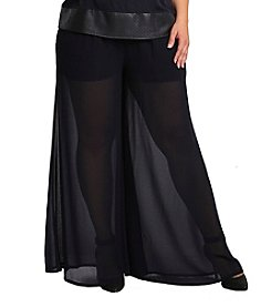 Standards & Practices Plus Size Patricia Palazzo Pants