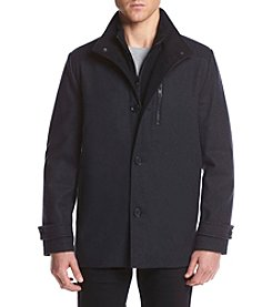 Kenneth Cole® Men's Wool Coat With Nylon Bib