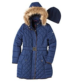 Hawke & Co. Girls' 7-16 Belted Long Coat