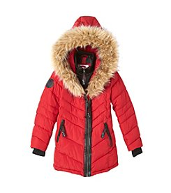 Canada Weather Gear™ Girls' 7-16 Full Fur Trim Parka