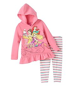 Disney® Princess Girls' 2T-6X 2-Piece Adventures On Hoodie And Leggings Set