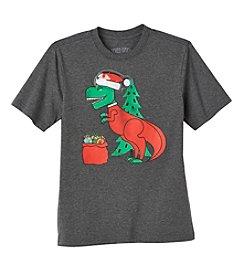 Seven Oaks Boys' 8-20 Short Sleeve T-Rex Santa Tee