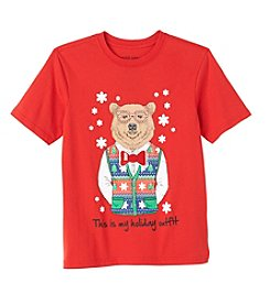 Seven Oaks Boys' 8-20 Short Sleeve My Holiday Outfit Tee