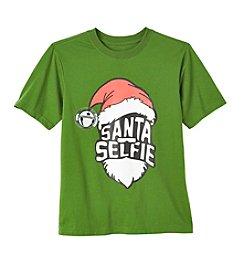Seven Oaks Boys' 8-20 Short Sleeve Santa Selfie Tee