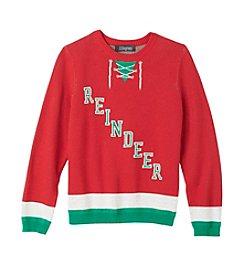 33 Degrees Boys' 8-20 Reindeer Hockey Sweater
