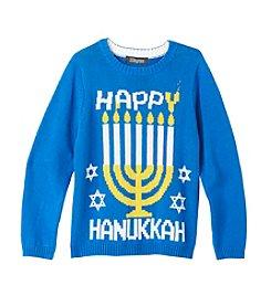 33 Degrees Boys' 8-20 Happy Hanukkah Sweater