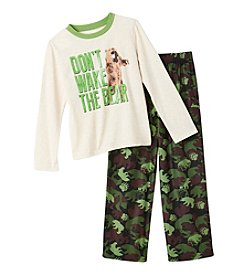Komar Kids® Boys' 2-Piece Don't Wake The Bear Pajama Set