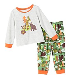 Komar Kids® Boys' 2T-4T 2-Piece Outdoor Wildlife Pajama Set