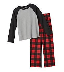 Komar Kids® Boys' 2-Piece Plaid Pajama Set