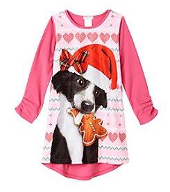Komar Kids® Girls' 4-16 Santa Puppy Nightgown