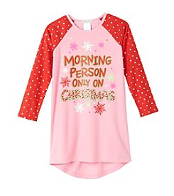 Komar Kids® Girls' 4-16 Morning Person On Christmas Nightgown