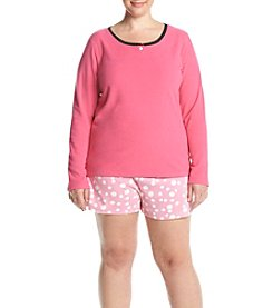 HUE® Plus Size Three-Piece Pajama Set
