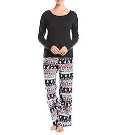Relativity® Long Sleeve Pajama Set