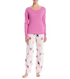 Relativity® Top and Pants Pajama Set