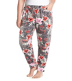 HUE® Plus Size Printed Velour Pajama Pants