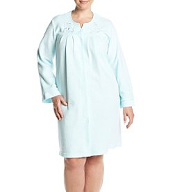 Miss Elaine® Plus Size Button Up Robe