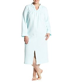Miss Elaine® Plus Size Zip Up Robe