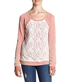 Chance or Fate® Lace Front Pullover Sweatshirt