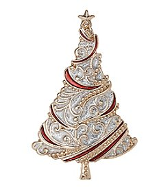 Studio Works® Goldtone Glitter Swirl Tree Pin