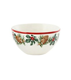 LivingQuarters Rustic Lodge Collection Bowl