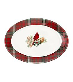 LivingQuarters Rustic Lodge Collection Platter