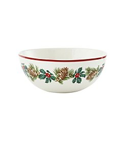LivingQuarters Rustic Lodge Collection Serving Bowl