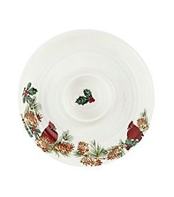 LivingQuarters Rustic Lodge Collection Chip n' Dip Tray