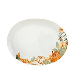 LivingQuarters Harvest Oval Coupe Platter