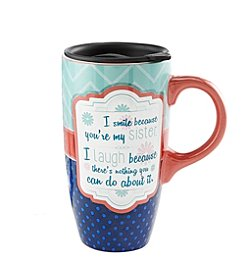 LivingQuarters Sister Latte Mug