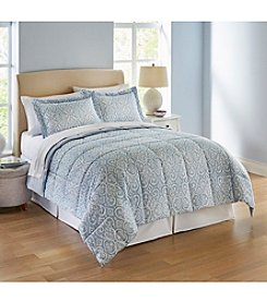 LivingQuarters Reversible Microfiber Down Alternative Candice Comforter