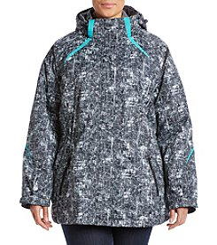 Below Zero Plus Size Color Splicing Anorak