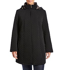 Gallery® Plus Size Trapunto Stitch Quilted Jacket
